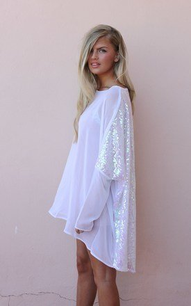 White sequin back alexandra by Never Fully Dressed Product photo