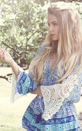 Gypsy heart blue playsuit by Allegra Product photo