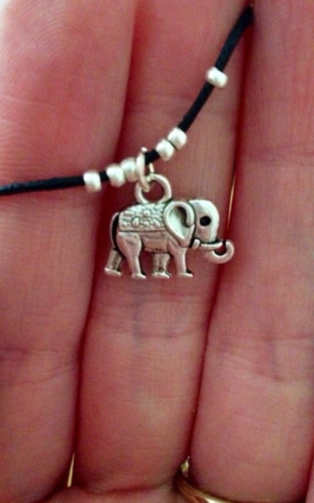 Elephant And Bead Choker Necklace by Diamond in The Sky