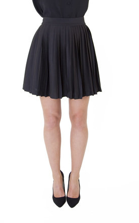 Black pleat skirt by Wolf & Whistle Product photo