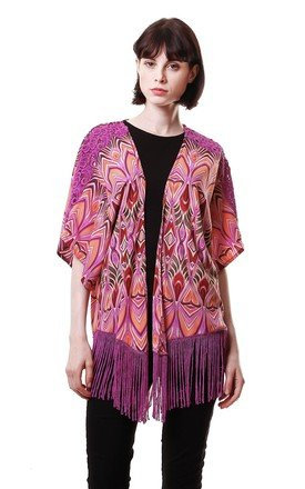 80's bold aztec print kimono by Liquorish Product photo