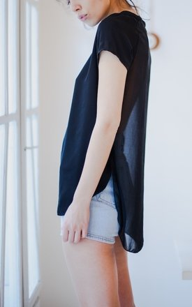 New! ♡ abelle sheer top - black ♡ by ESSENTIALS FOR ZULA Product photo