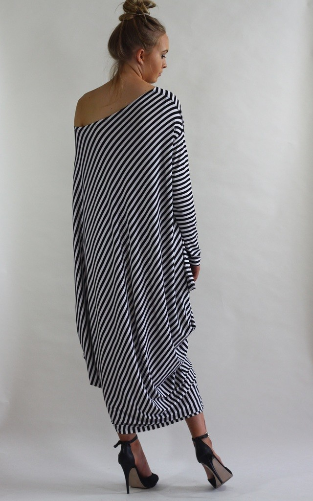 Gaya Stripe Asymmetric Dress by LagenLuxe