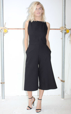 Elizabeth black culotte jumpsuit by Never Fully Dressed Product photo
