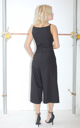 Elizabeth Black Culotte Jumpsuit by Never Fully Dressed
