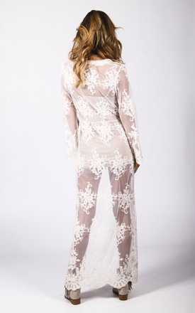 Wanderer Kimono Ivory Lace by Wired Angel