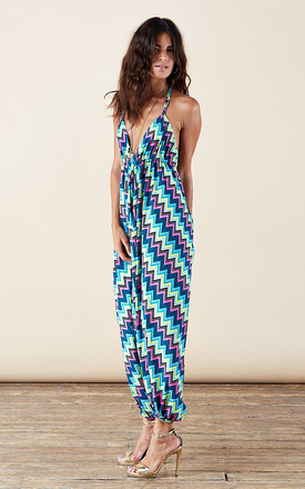 Genie jumpsuit in flouro chevron by Dancing Leopard Product photo