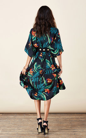 Lola Kimono in Black Tropical by Dancing Leopard