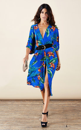 Lola kimono in blue tropical by Dancing Leopard Product photo