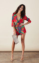 Tiago Playsuit in Red Tropical by Dancing Leopard