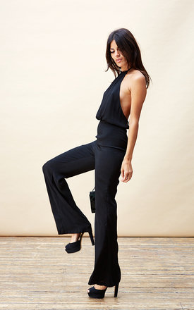 Zita jumpsuit in black by Dancing Leopard Product photo