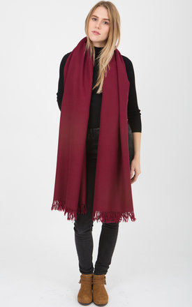Kasa merino wool burgundy blanket oversize scarf by likemary Product photo