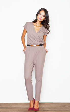 Chic mocca jumpsuit by KATRUS Product photo
