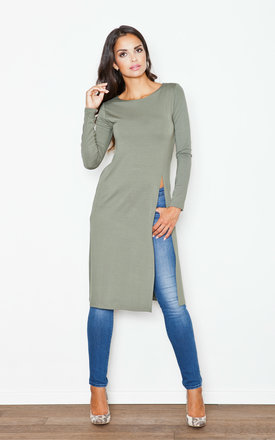 Long khaki tunic by KATRUS Product photo