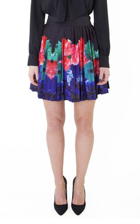 Floral border pleated skirt by Wolf & Whistle Product photo