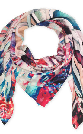Fleur oversized luxury scarf by Leanne Claxton Product photo