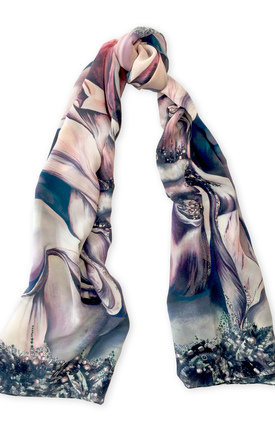 Jasmine long luxury scarf by Leanne Claxton Product photo