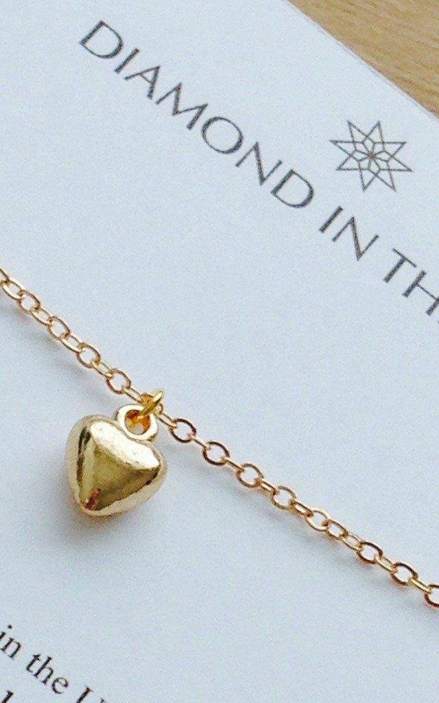 Gold Loveheart Bracelet by Diamond in The Sky