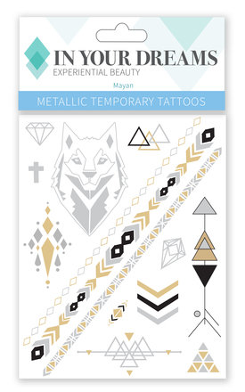 Mayan Metallic Wanderlust tattoos by IN YOUR DREAMS