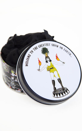 Exotic circus knicker tin - fire girl by Playful Promises Product photo