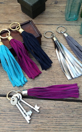 Tassel keyring - grey by Miller & Jeeves Product photo