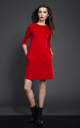 BOW DRESS RED by KASIA MICIAK