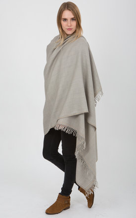 Shoreditch merino wool blanket scarf stone grey by likemary Product photo