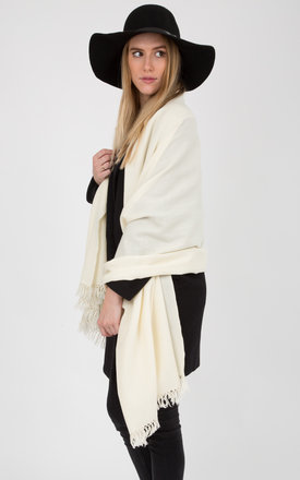 Kasa merino wool blanket scarf cream by likemary Product photo