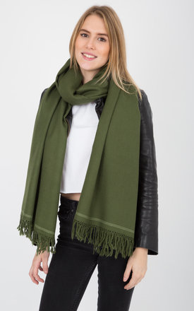 Shoreditch merino wool blanket scarf green by likemary Product photo