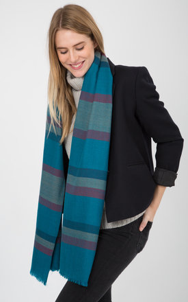 Twill handwoven merino stripes scarf 55 x 180cm by likemary Product photo