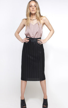 Metallic pleated skirt by We Run This Product photo