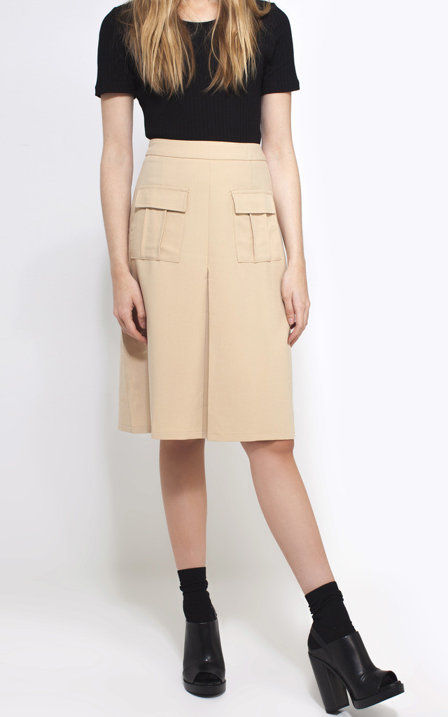 Beige Midi Utility Skirt by We Run This