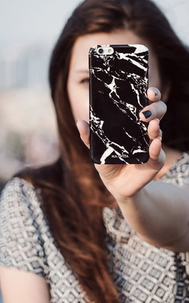 Black marble iphone case by Madotta Product photo