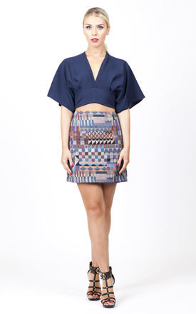 Aztec printed mini skirt by Kendelle Product photo