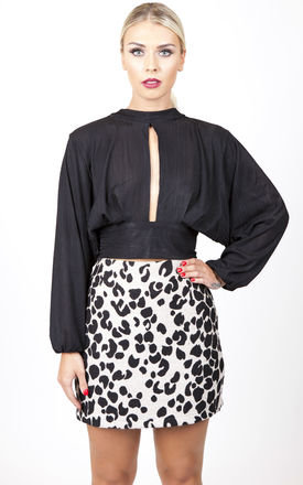 Animal print mini shift skirt by Kendelle Product photo