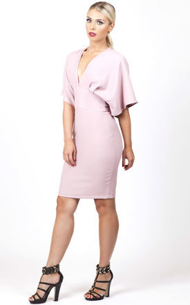 Cape tie dress blush pink by Kendelle Product photo