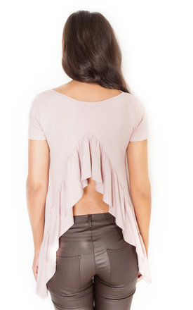 Neutral frill back blouse by KATRUS Product photo