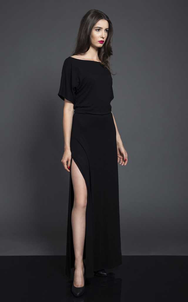 BLACK MAXI DRESS by KASIA MICIAK