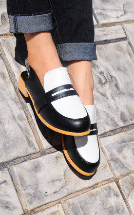 Michelle black masculine penny ball flats by SEIRA ELVES Product photo
