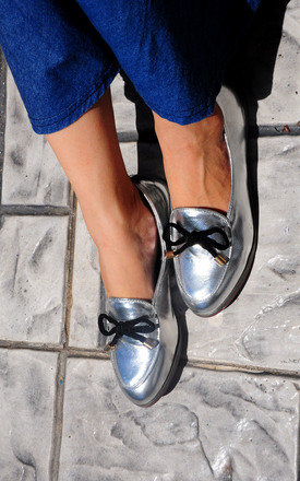 Oscar sliver with a feminine bow loafers by SEIRA ELVES Product photo