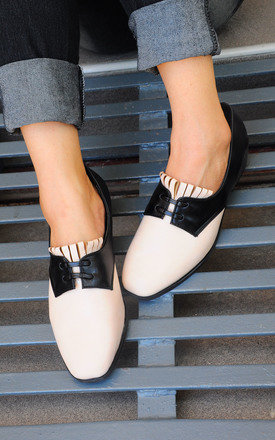Charina tassel black nude loafers by SEIRA ELVES Product photo