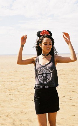 Mandala skull tank tee by Olive and Frank Product photo