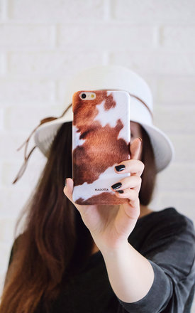 Cowhide print iphone case by Madotta Product photo