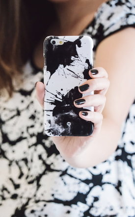 Black inky blots iphone case by Madotta Product photo