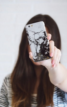 Black and white marble iphone case by Madotta Product photo