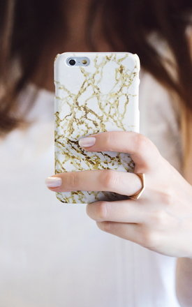Golden desert marble iphone case by Madotta Product photo