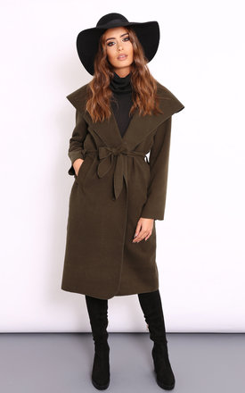 Lydia khaki coat by Dolly Rocka Product photo
