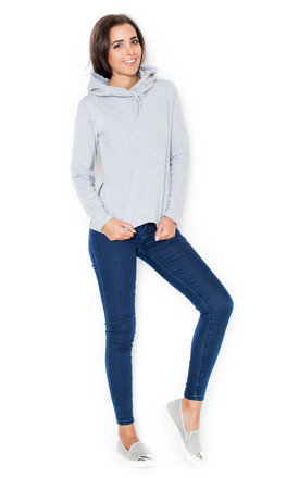 Grey hoodie with zip by KATRUS Product photo