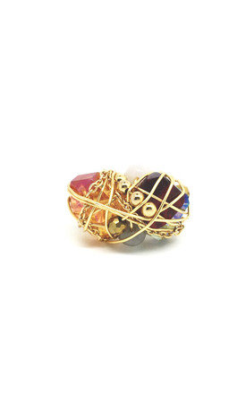 Gold fuji ring by Black and Sigi Product photo