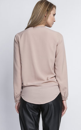 Neutral Wrap Blouse by Lanti